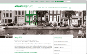 screenshot 4 abroad experience website
