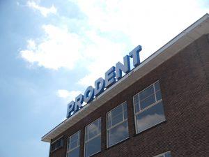 De oude Prodentfabriek in De Nieuwe Stad in Amersfoort