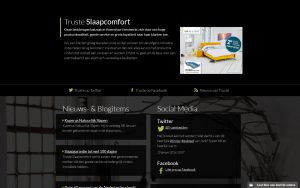 Screenshot website Truste Slaapcomfort