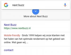 Mobielvriendelijke label voor je website in Google