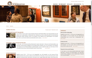 screenshot 1 museum het rembrandthuis website