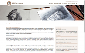screenshot 4 museum het rembrandthuis website
