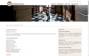 screenshot 3 museum het rembrandthuis website