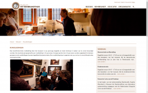 screenshot 2 museum het rembrandthuis website