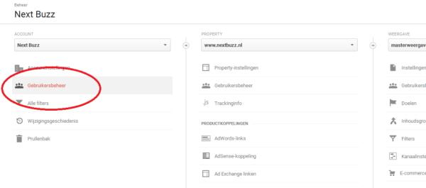 Toegang krijgen Google Analytics op account