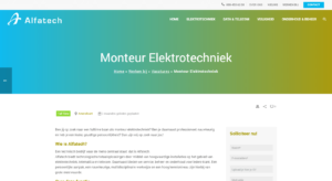 Alfatech - Vacature