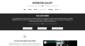 Introducing gallery - Film laten maken