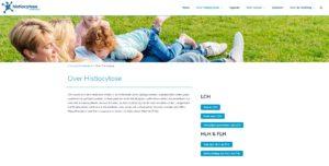Histio - Over Histio page