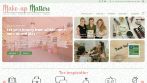 Make up Matters homepage