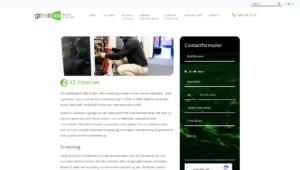 Green XS website
