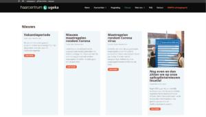 Haarcentrum Ugeka website
